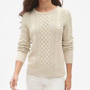 Gap cable knit sweater size large staple sweater